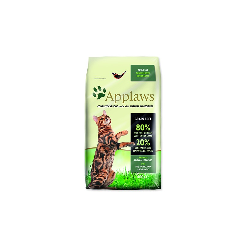 ALPHATECH, APPLAWS APPLAWS Dry Cat Chicken with Lamb 400g
