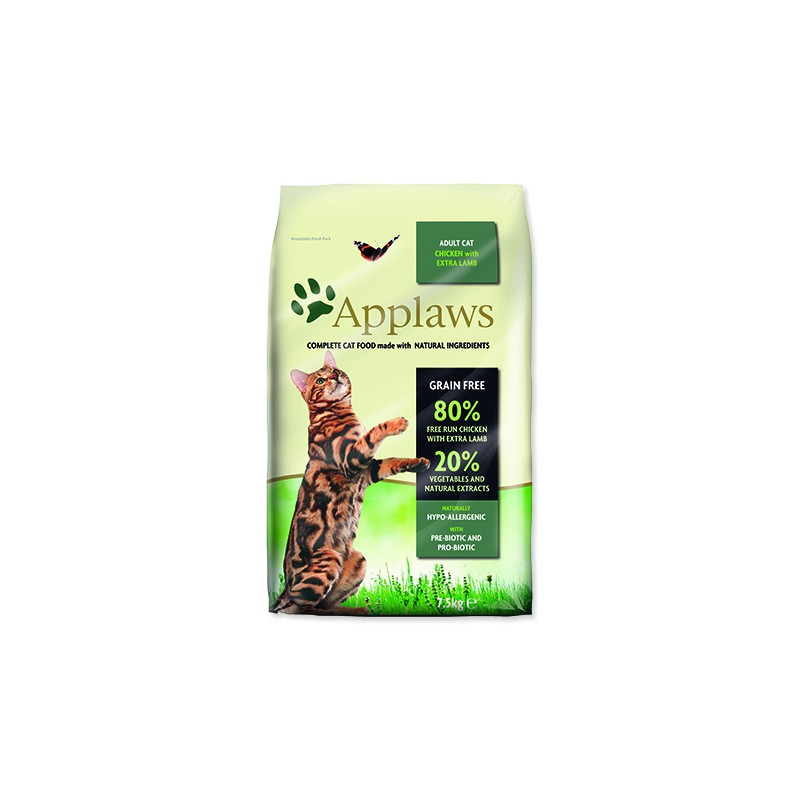 ALPHATECH, APPLAWS APPLAWS Dry Cat Chicken with Lamb 7,5kg