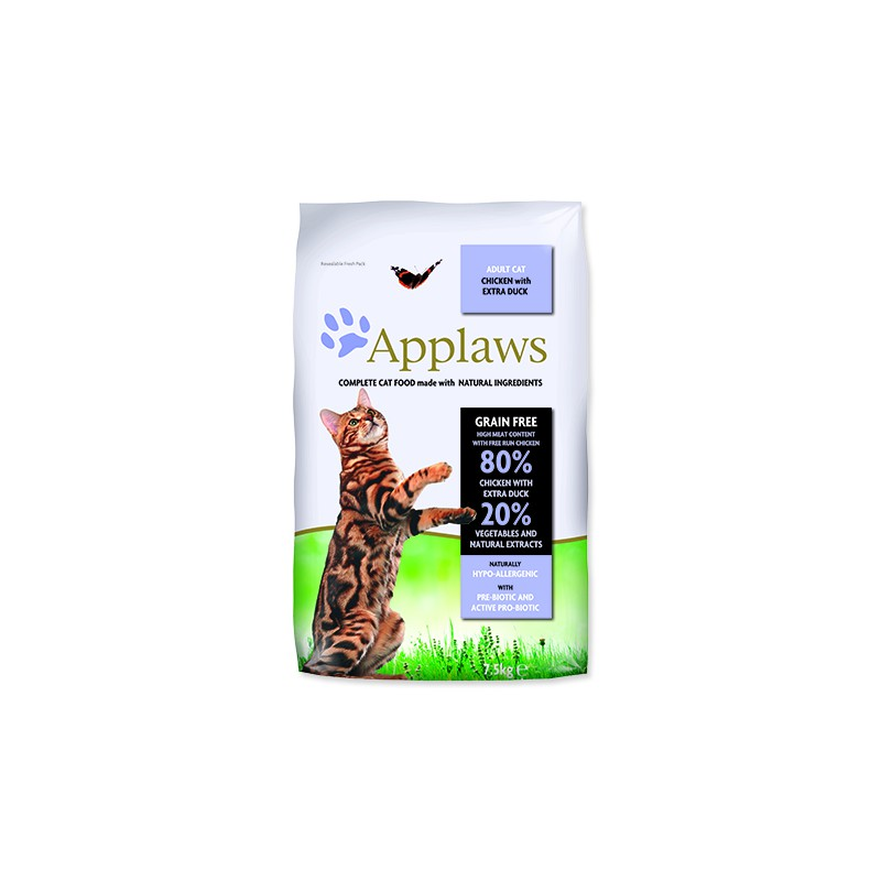 ALPHATECH, APPLAWS APPLAWS Dry Cat Chicken with Duck 7,5kg