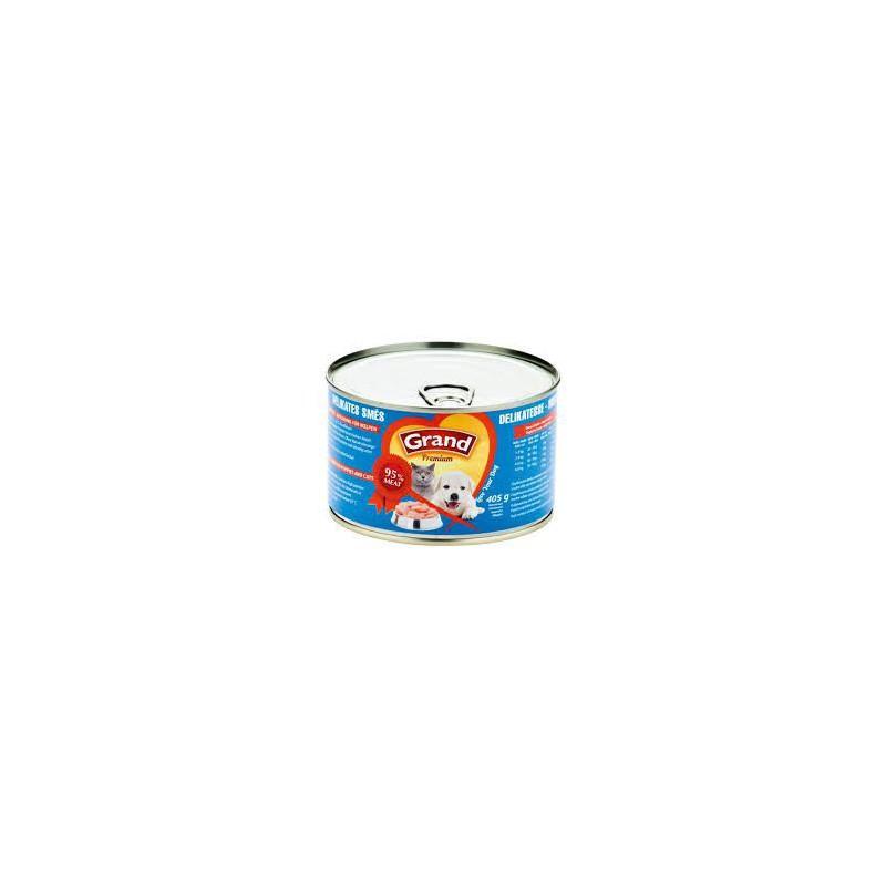 Jeseničan s.r.o. GRAND konzerva štěně speciální mas.směs 405 g