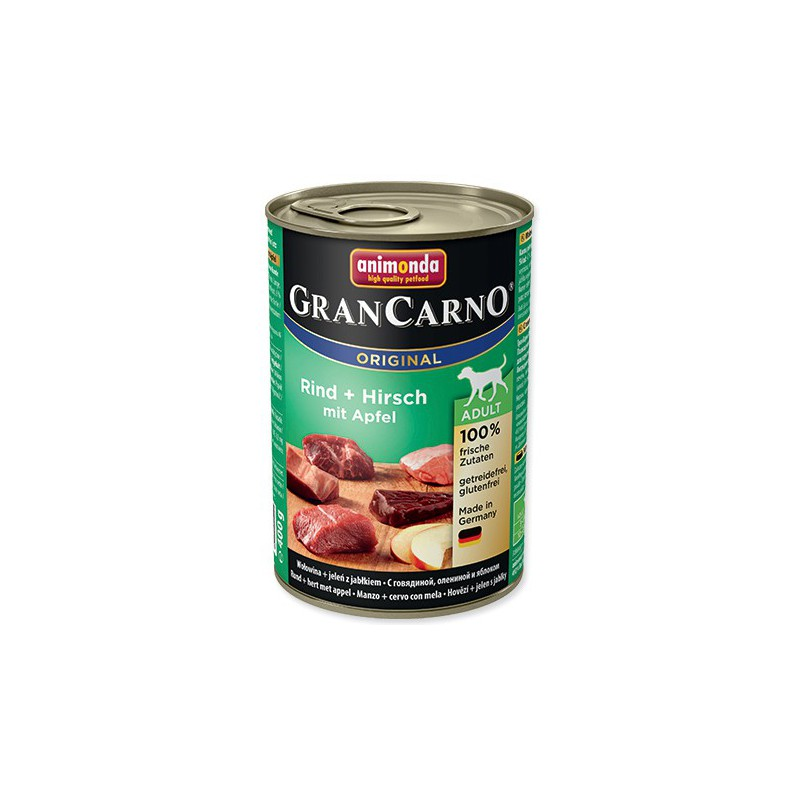 FELIX Konzerva ANIMONDA Gran Carno hovězí + jelení + jablka 400g