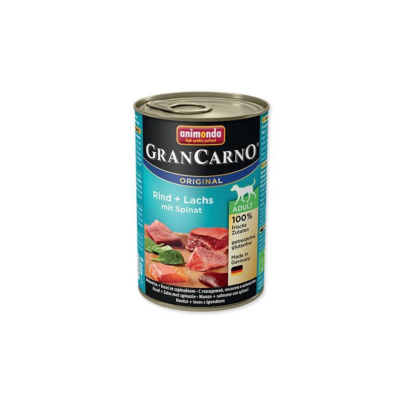 FELIX Konzerva ANIMONDA Gran Carno hovězí + losos + špenát 400g
