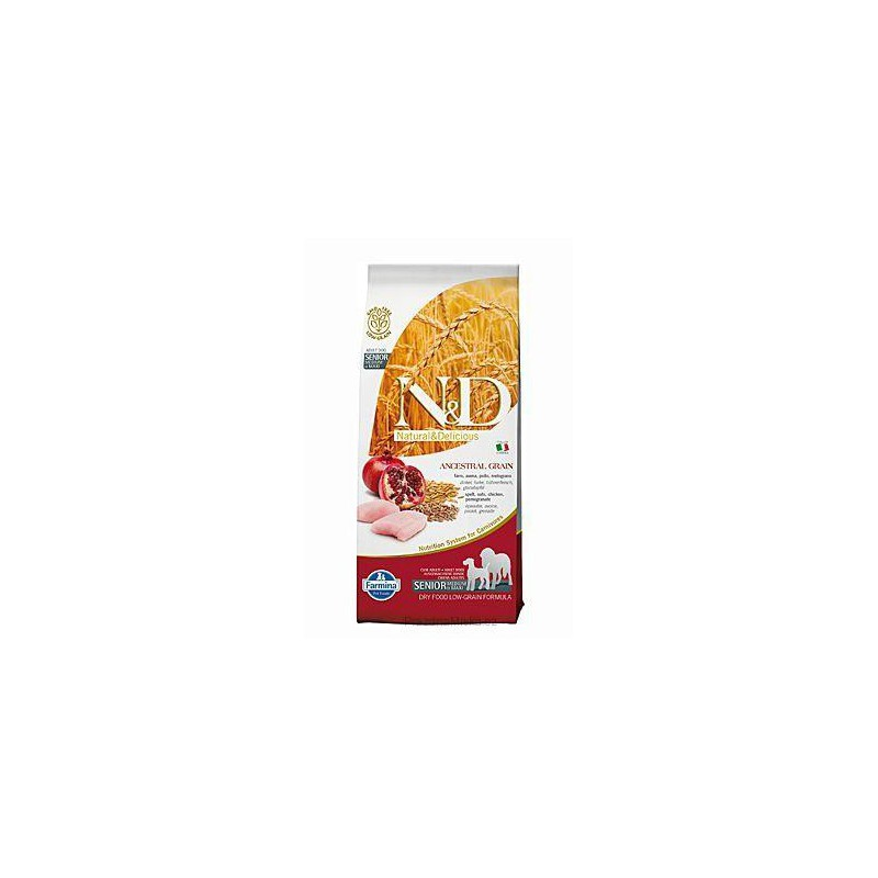 Farmina Pet Foods - N&D N&D Low Grain DOG Senior M/L Chicken&Pomegr 12 kg (DOPRAVA ZDARMA)