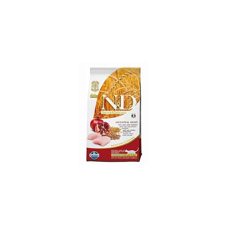 Farmina Pet Foods - N&D N&D Low Grain CAT Neutered Chicken & Pomegranate 1,5 kg