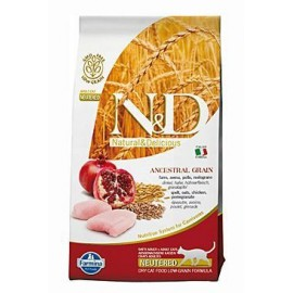N&D Low Grain CAT Neutered Chicken & Pomegranate 300g