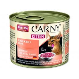 Konzerva ANIMONDA Carny Kitten hovězí + telecí + kuřecí 200g