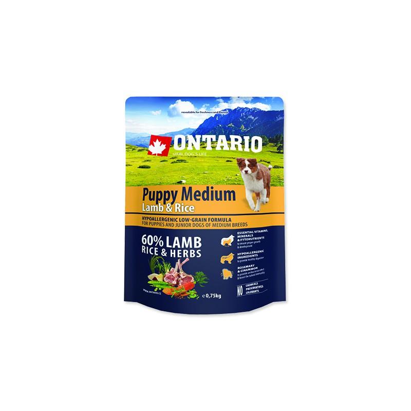 Ontario ONTARIO Puppy Medium Lamb & Rice 0,75kg