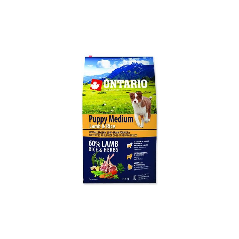 Ontario ONTARIO Puppy Medium Lamb & Rice 6,5kg