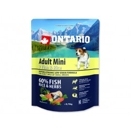 ONTARIO Dog Adult Mini Fish & Rice 0,75kg