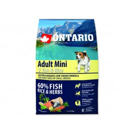 ONTARIO Dog Adult Mini Fish & Rice 2,25kg