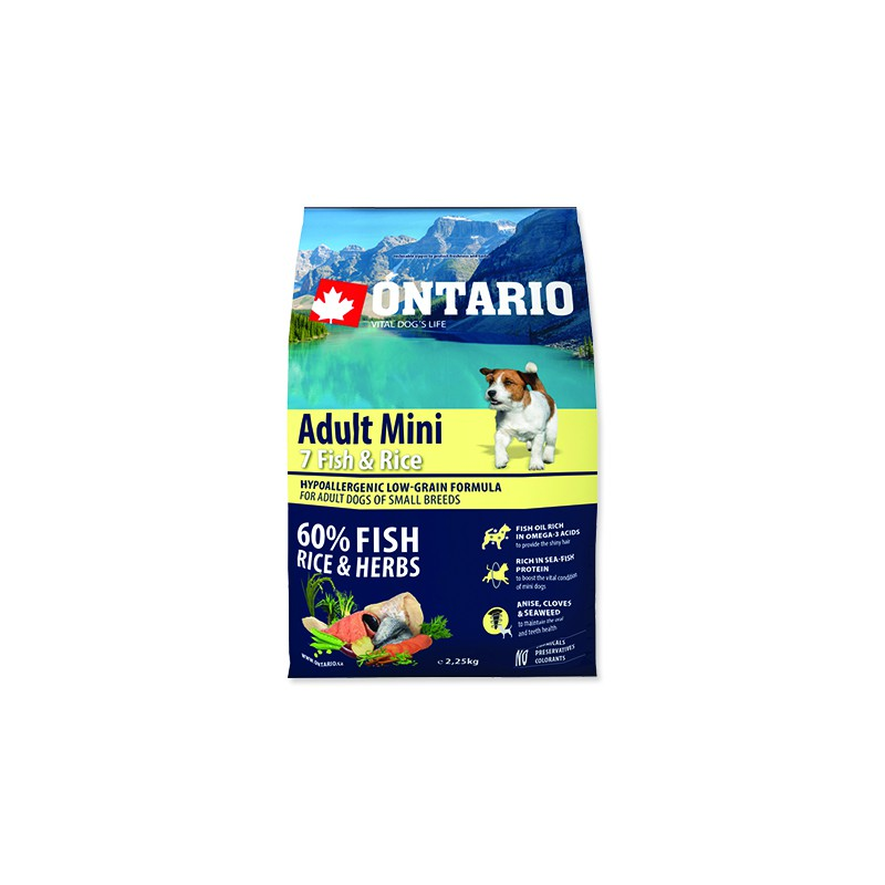 Ontario ONTARIO Dog Adult Mini Fish & Rice 2,25kg