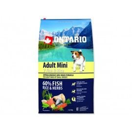 ONTARIO Dog Adult Mini Fish & Rice 6,5kg