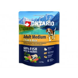 ONTARIO Dog Adult Medium Fish & Rice 0,75kg