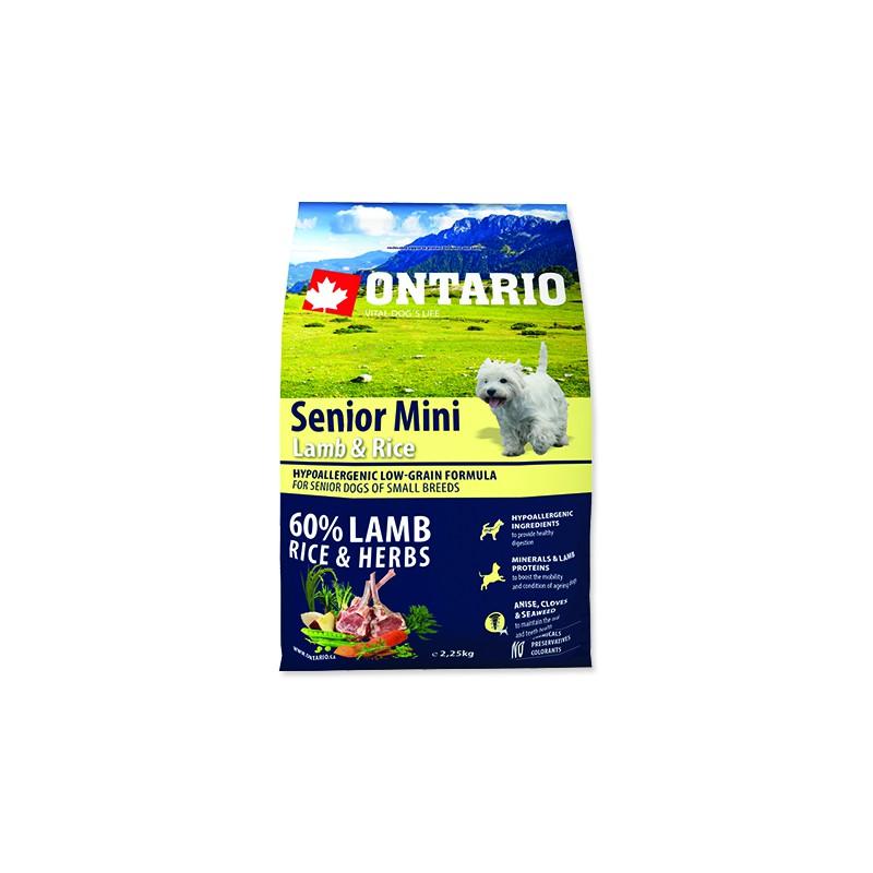 Ontario ONTARIO Senior Mini Lamb & Rice 2,25kg