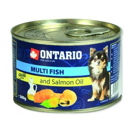 Konzerva ONTARIO Dog Mini Multi Fish and Salmon Oil 200g