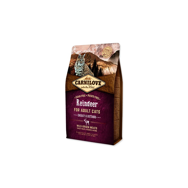VAFO Carnilove Praha s.r.o. CARNILOVE Reindeer Adult Cats Energy and Outdoor 2kg