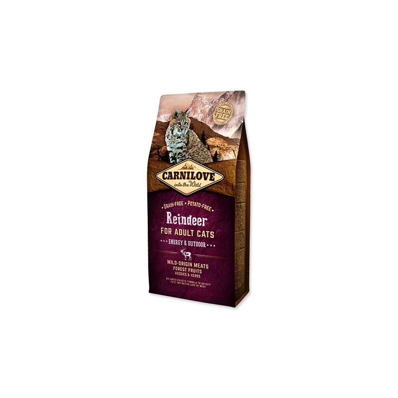 VAFO Carnilove Praha s.r.o. CARNILOVE Reindeer Adult Cats Energy and Outdoor 6kg