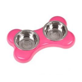 Karlie-Flamingo Miska nerez KOST 2x500ml/36x22x8cm/růžová