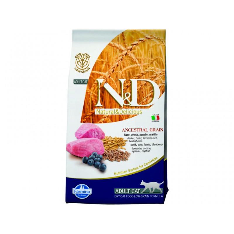 Farmina Pet Foods - N&D N&D Low Grain CAT Adult Lamb & Blueberry 5 kg