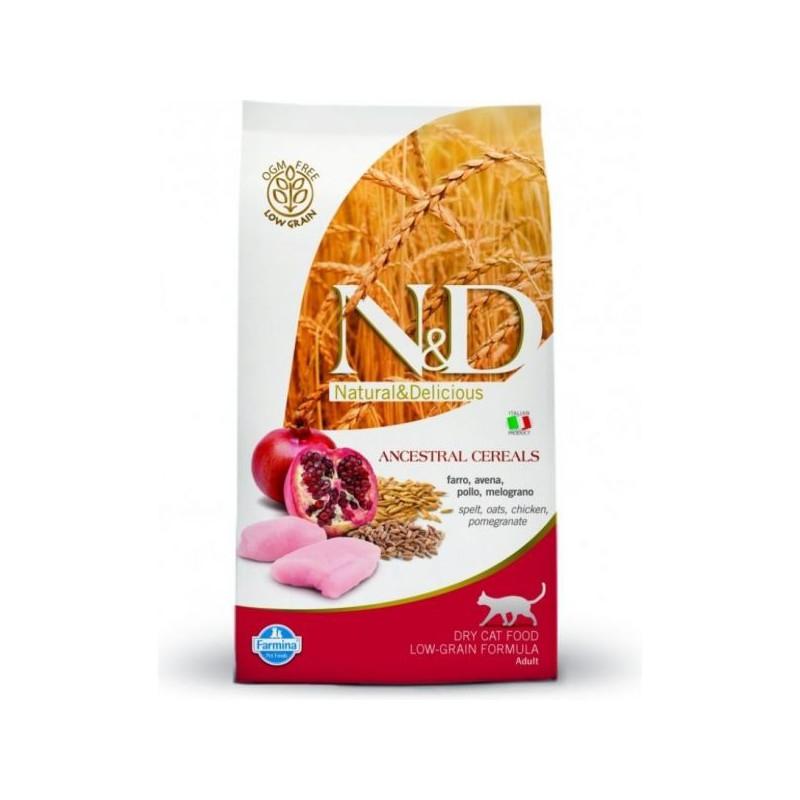 Farmina Pet Foods - N&D N&D Low Grain CAT Adult Chicken & Pomegranate 5 kg