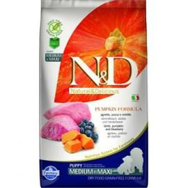 N&D GF Pumpkin DOG Puppy M/L Lamb & Blueberry 2,5kg