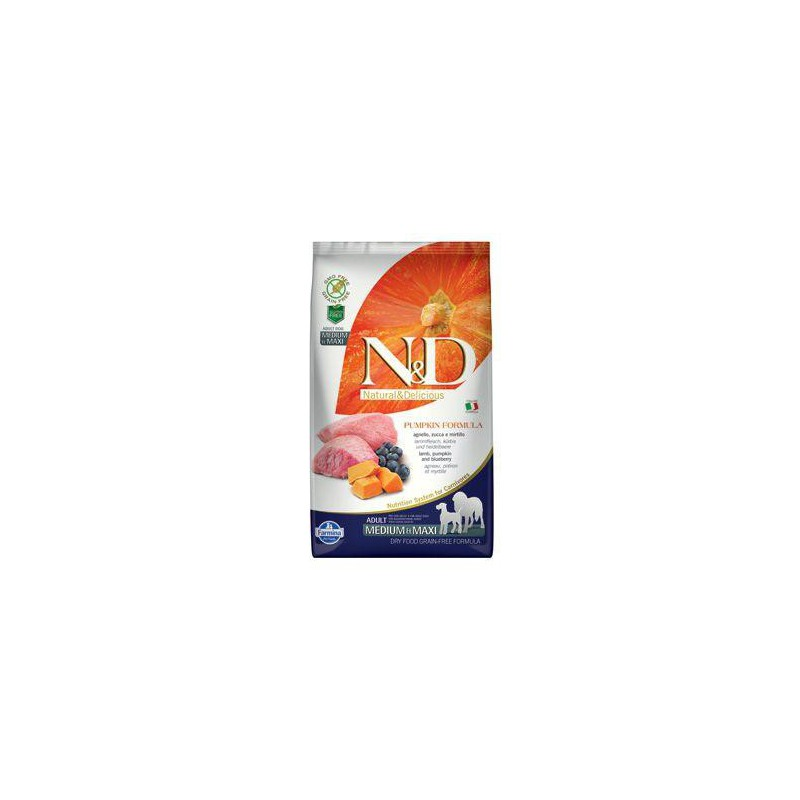 Farmina Pet Foods - N&D N&D GF Pumpkin DOG Adult M/L Lamb & Blueberry 2,5 kg