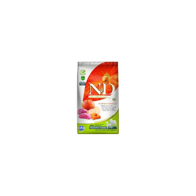 Farmina Pet Foods - N&D N&D GF Pumpkin DOG Adult M/L Boar & Apple 2,5 kg