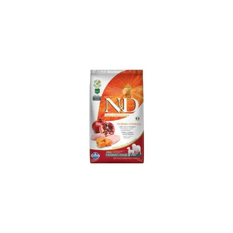 Farmina Pet Foods - N&D N&D GF Pumpkin DOG Adult M/L Chicken&Pomegranate 2,5 kg