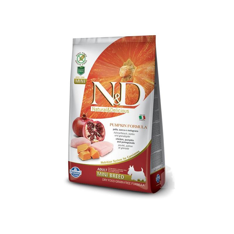 Farmina Pet Foods - N&D N&D GF Pumpkin DOG Adult Mini Chicken&Pomegranat 2,5 kg