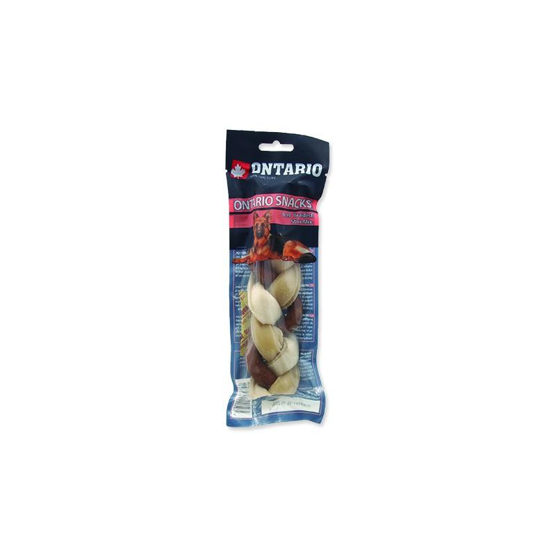 Ontario Snack ONTARIO Dog Rawhide Braided Stick Mix 17,5 cm 1ks