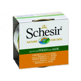 Konzerva SCHESIR Dog kuřecí + aloe v želé 150g