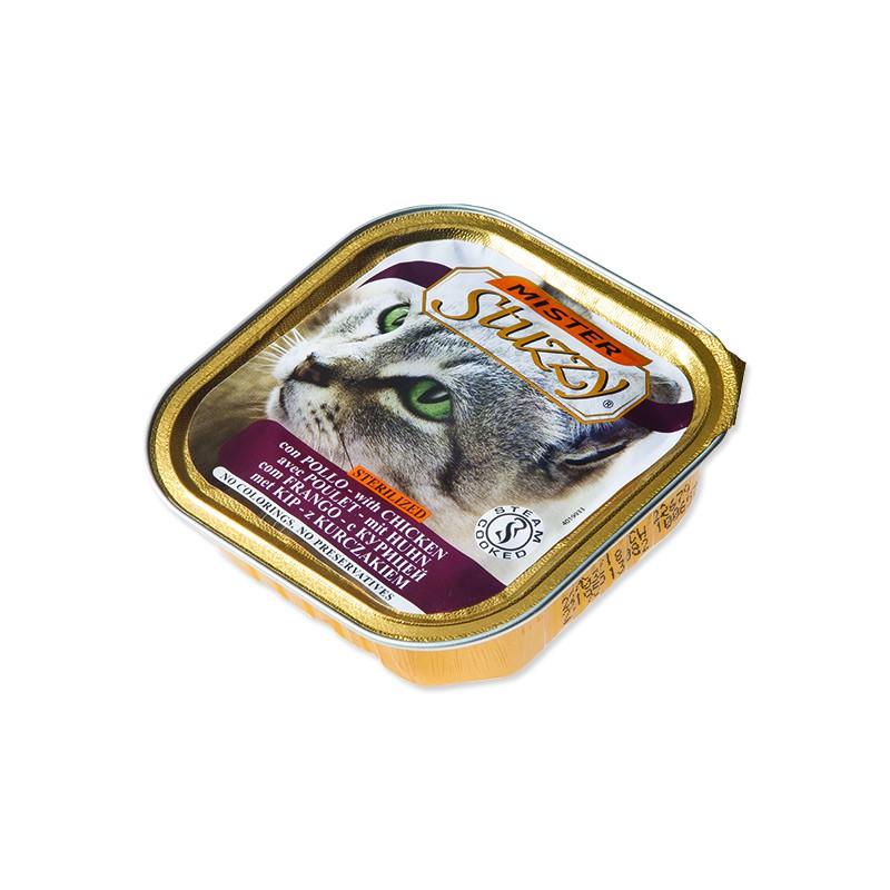 SCHESIR Vanička MISTER STUZZY Cat pro sterilizované kočky kuřecí 100g