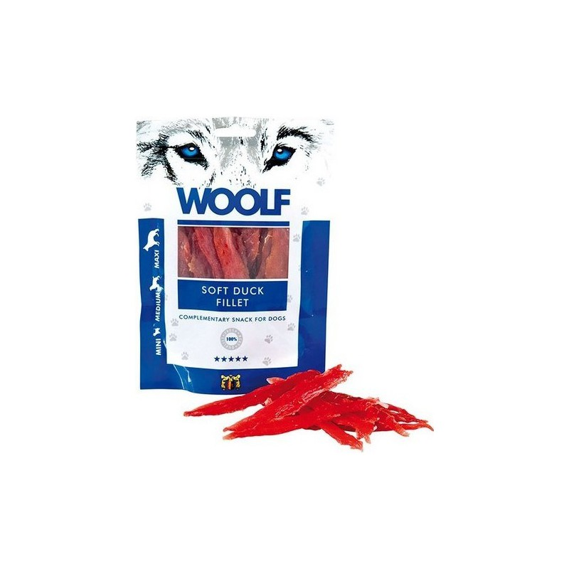 WOOLF Snack WOOLF pochoutka soft duck jerky 100 g