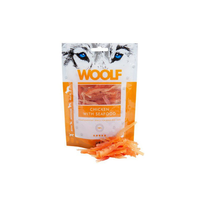 WOOLF Snack WOOLF pochoutka chicken and seafood 100 g