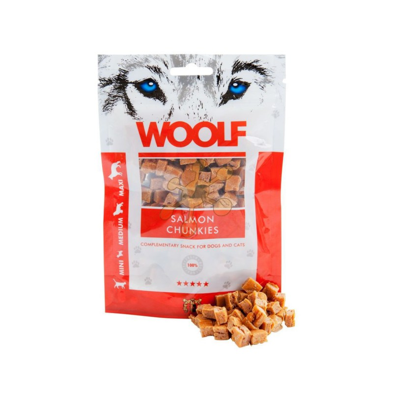 WOOLF Snack WOOLF pochoutka salmon chunkies 100 g