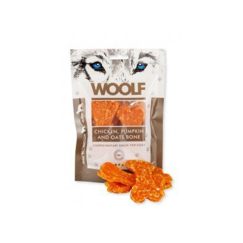 WOOLF Snack WOOLF pochoutka large chicken, pumpkin, oats bone 100 g
