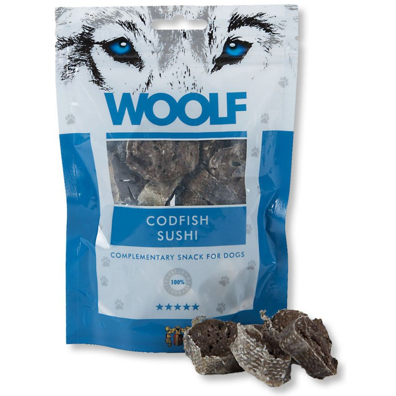 WOOLF Snack WOOLF pochoutka codfish sushi 100 g