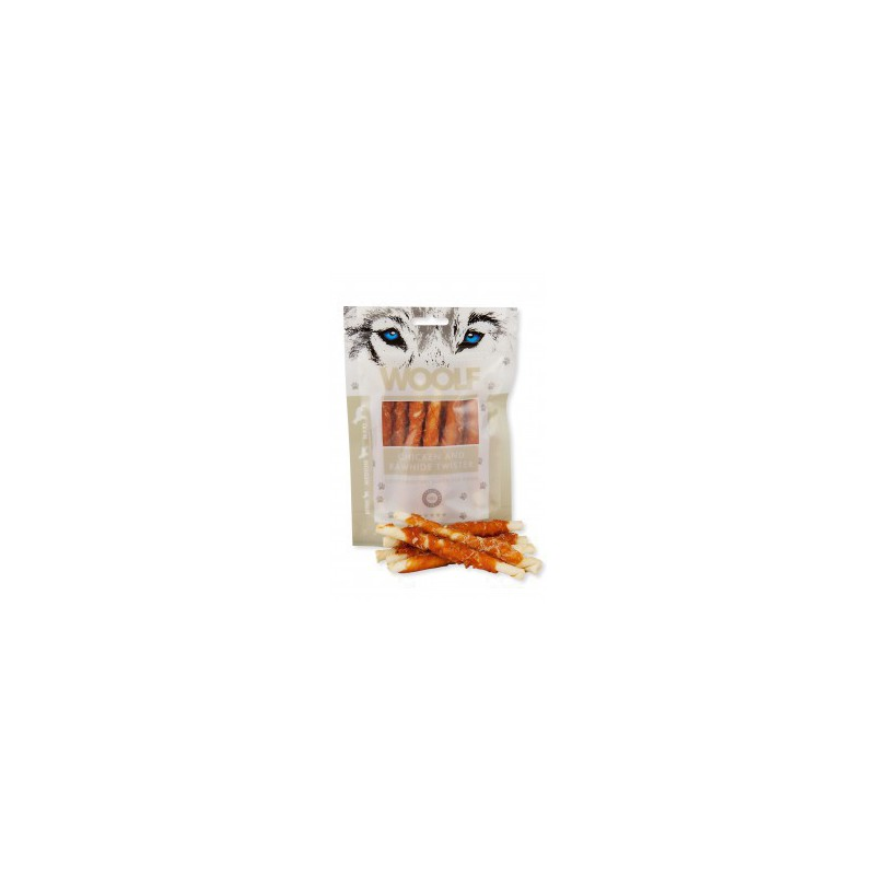 WOOLF Snack WOOLF pochoutka chicken and rawhide twister 100 g