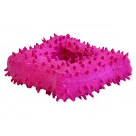 Hračka DOG FANTASY Latex s bodlinami a zvukem mix barev 7-13cm 1ks