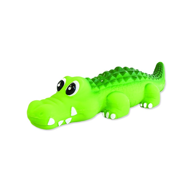 PLAČEK Hračka DOG FANTASY Latex krokodýl se zvukem 21 cm 1ks