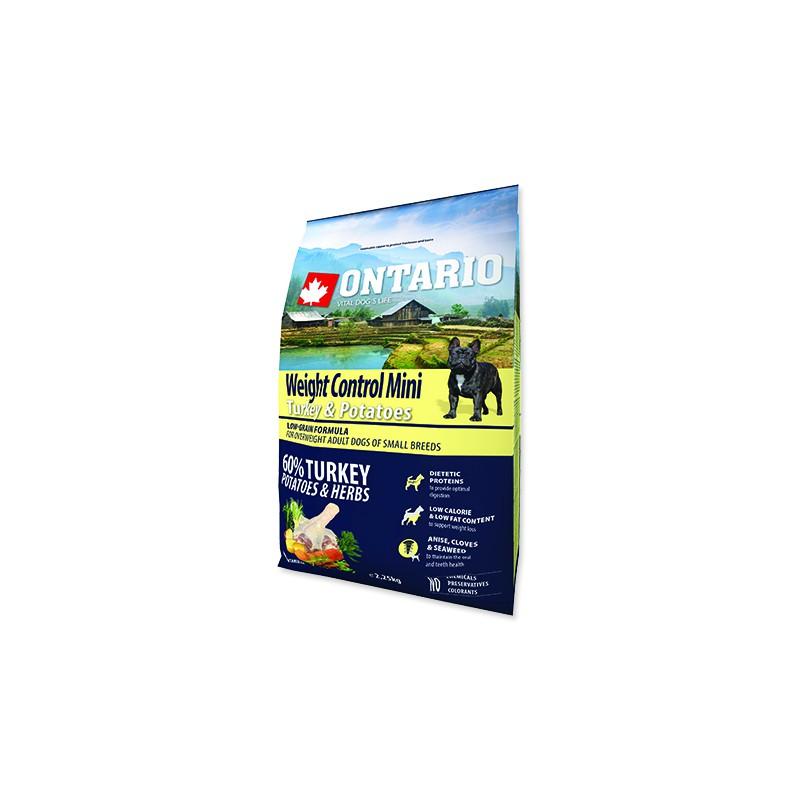 Ontario ONTARIO Dog Mini Weight Control Turkey & Potatoes 2,25kg