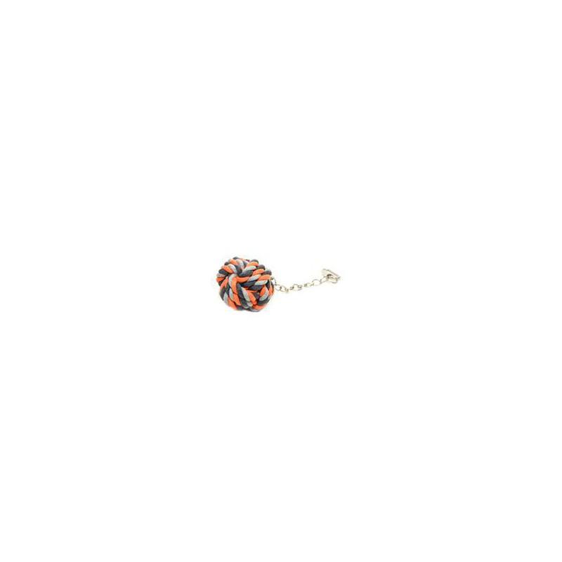 SAMOHYL Hračka pták/hlod bavl. koule+ řetízek Duvo+ 7 x 23 cm