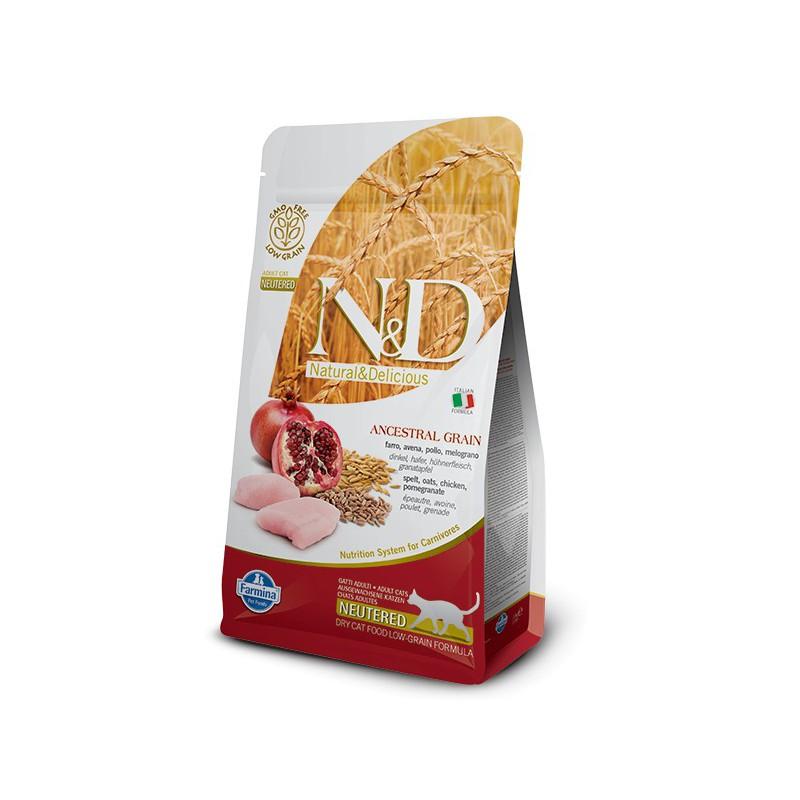 Farmina Pet Foods - N&D N&D LG CAT Neutered Chicken & Pomegranate 5 kg