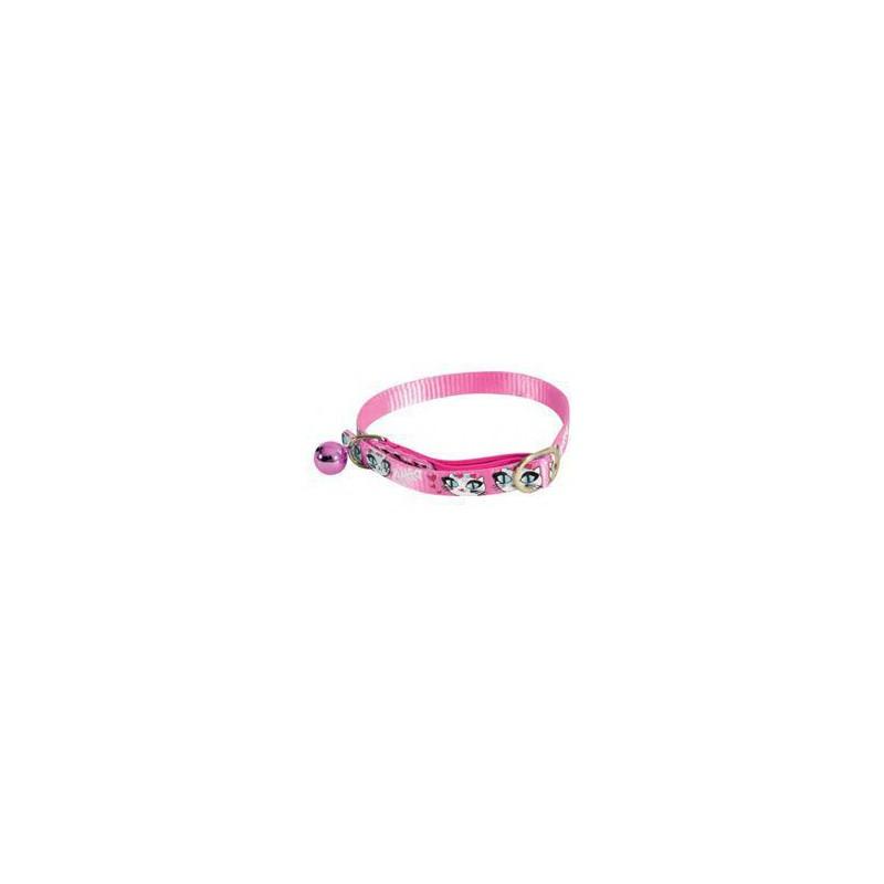 Zolux S.A.S. Obojek kočka LADYCAT nylon růžový 10mm/30cm Zolux