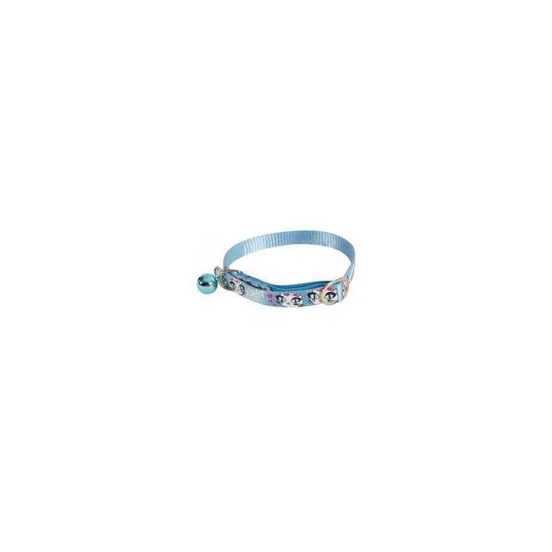 Zolux S.A.S. Obojek kočka LADYCAT nylon modrý 10mm/30cm Zolux