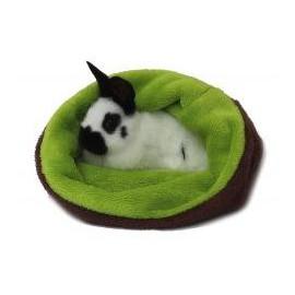 Marysa pelíšek 3v1 pro hlodavce, tmavě hnědý/světle zelený