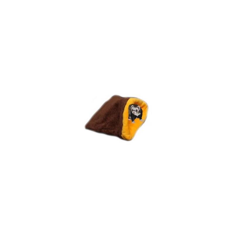 Marysa pelíšek 3v1 pro fretky, tmavě hnědý/žlutý