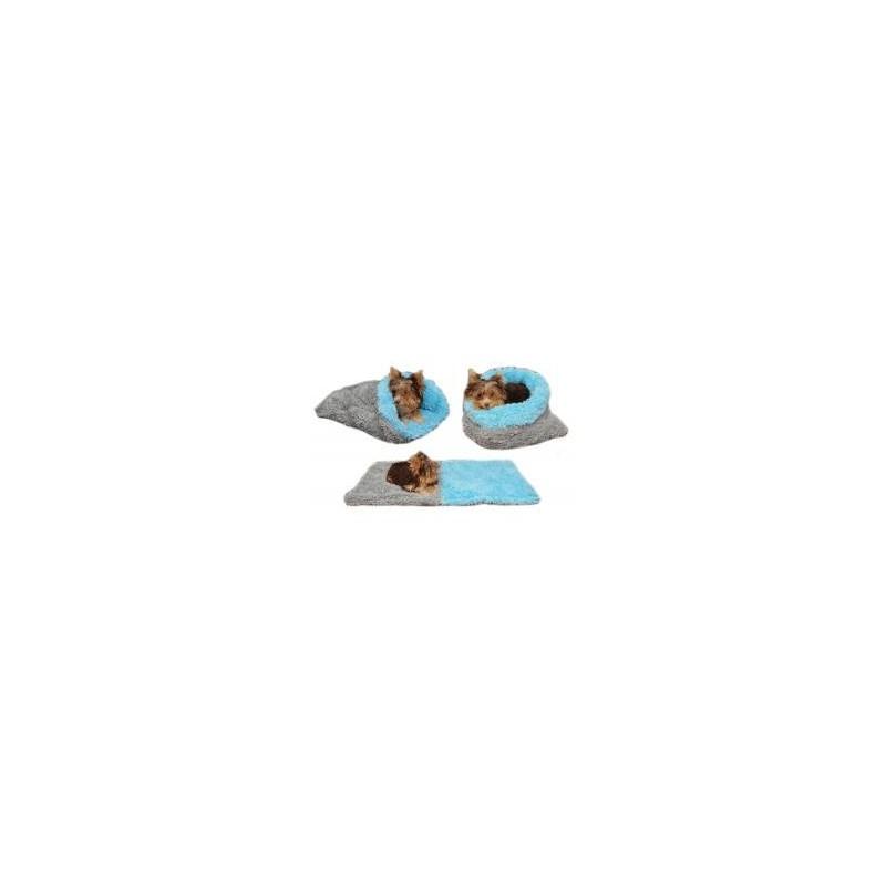 Marysa pelíšek 3v1 pro štěňátka/koťátka, DE LUXE, šedý/světle modrý