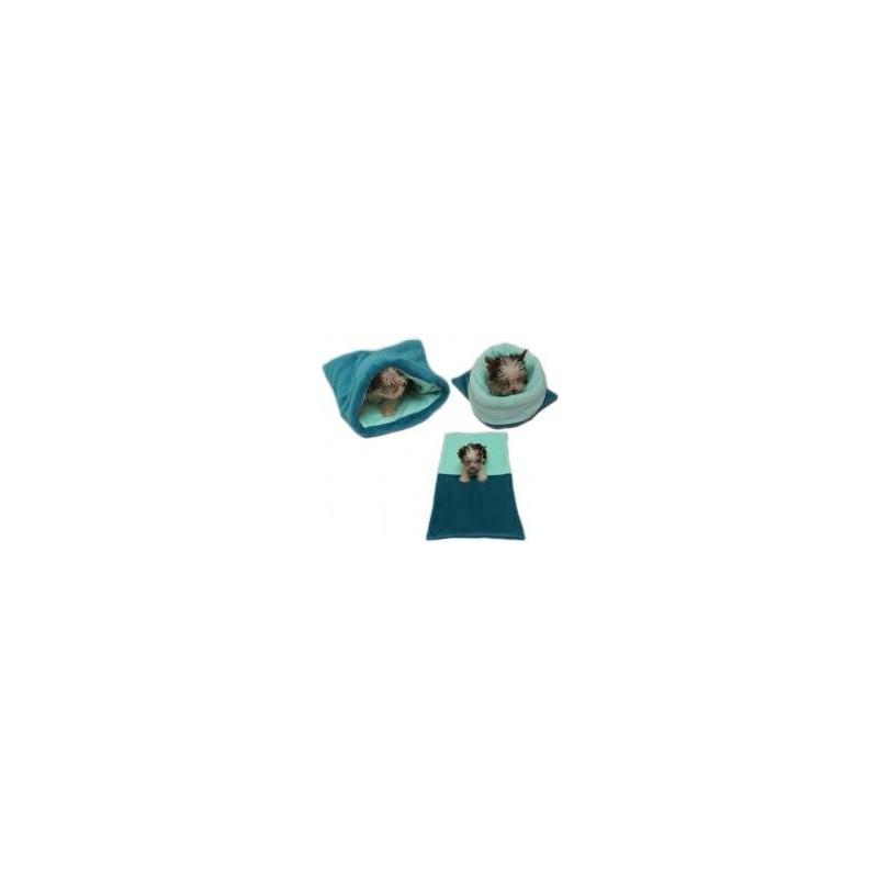 Marysa pelíšek 3v1 pro štěňátka/koťátka, tmavě zelený/světle tyrkysový
