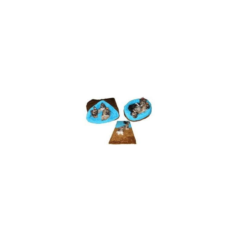 Marysa pelíšek 3v1 MAX, skořicový/modrý